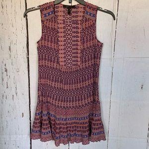 BCBG Maxazria Boho Yulissa Sleeveless Ruffle Dress